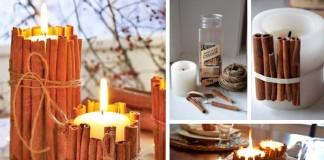 Dekoračné škoricové sviečky | Návody na vianočné dekorácie