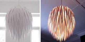 Štýlové tienidlo vytvorené z nastrihaných kúskov papiera | Návod