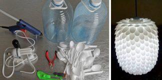 Svietidlo z plastových lyžičiek | Návod, ako využiť plastové lyžičky