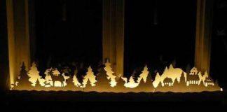 Vianočná svetielkujúca dekorácia do okna | DIY návod