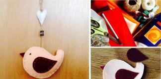 Jarné vtáčiky z flisu | DIY nápad a návod ako vyrobiť flisové vtáčiky