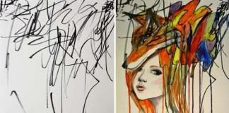 Mama premieňa náčrty svojej 2-ročnej dcéry na krásne obrazy