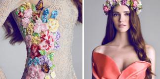 Šaty vyšívané korálkami od talentovanej návrhárky Hamda Al Fahim