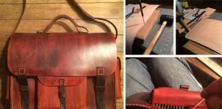 Kožená handmade aktovka | Návod na ručne vyrobenú koženú aktovku