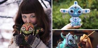 Handmade hračky rozkošných tvorov Mariana Kopylova