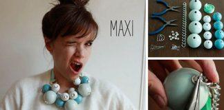 Maxi korálkový náhrdelník | Návod ako vyrobiť handmade náhrdelník