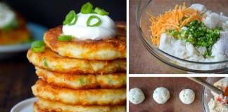 Zemiakovo-syrové placky zo zvyšnej zemiakovej kaše