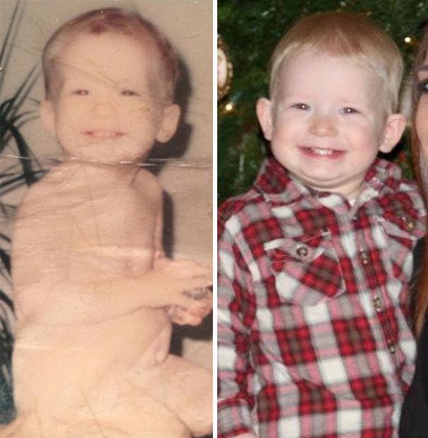 fotografie podobnosti deti a ich rodicov 17