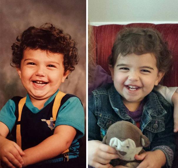 fotografie podobnosti deti a ich rodicov 2
