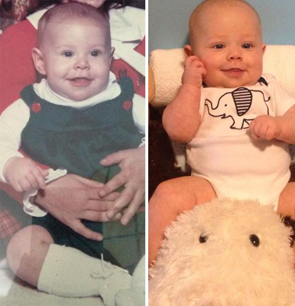 fotografie podobnosti deti a ich rodicov 8