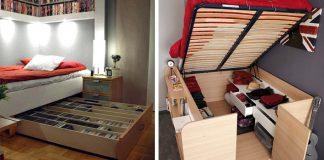 Postele s úložným priestorom | 25+ kreatívnych nápadov