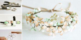 Kvetinová čelenka z drôtu a laku na nechty | Detailný návod na čelenku