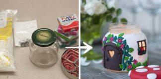 Svietnik muchotrávka | Dekoračný darček - siečka a domček v jednom