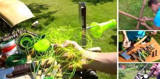 Praktický nápad ako premeniť plastovú fľašu na pevné vlákno