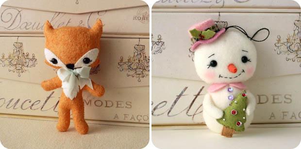 Handmade hračky z plsti od Gingermelon 01