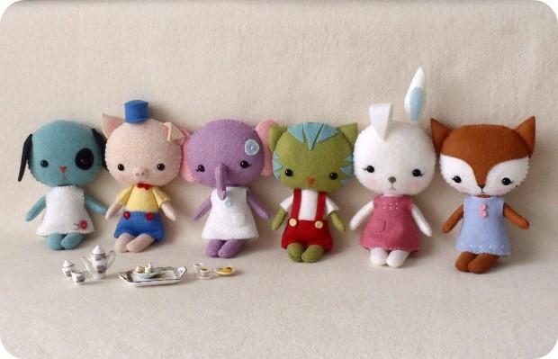 Handmade hračky z plsti od Gingermelon 7