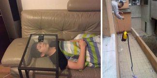 Kreativita lenivých ľudí, ktorí povýšili lenivosť na novú úroveň