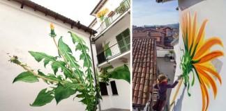 Maľby buriny na stenách budov | Mona Caron