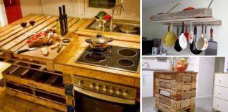 Kuchynský nábytok z paliet | Nápady ako pridať drevené palety do kuchyne