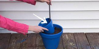 Kvetináč do záhrady s vaničkou pre vtáčiky | Kreatívny nápad a návod