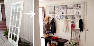 Premena starých dverí na fotorámčeky s vešiakmi a policou | Návod