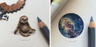 Miniatúrne kresby zvieratiek, galaxii a kníh od Lorraine Loots