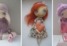 Handmade bábiky s veľkými krásnymi očami | Oksana Dadiani
