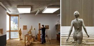 Sochy z dreva, ktoré prekypujú detailami | Peter Demetz