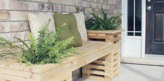 Lavička s kvetináčmi | Nápady a návody na kvetináčové lavičky