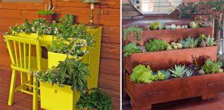 Sadenie v nábytku | Nápady, ako vyžiť starý nábytok na sadenie