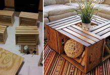 Stolík z debničiek   Návod na konferenčný stolík z drevených debničiek