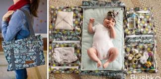 Prebaľovacie tašky pre mamičky | Geniálny handmade nápad