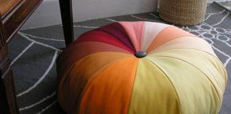 Látkový puf na sedenie | Handmade nápad s návodom, ako vyrobiť puf