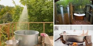 inspiracie napady na exterierove vonkajšie kúpelne sprchy