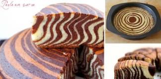 Recept na jednoduchý a originálny ZEBRA koláč