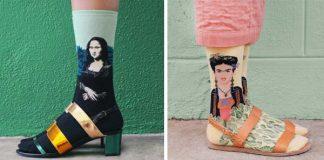 Slávne maľby znovu ožívajú ako motív na ponožkách