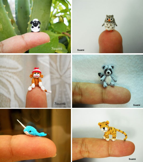 Miniatúrne háčkované zvieratká   Handmade od SuAmi 21