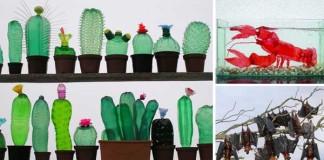 Veronika Richterová mení plastové fľaše na umelecké diela