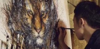 Hua Tunan Ohromujúce atramentové portréty zvierat