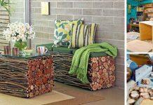 Nábytok z vetiev | DIY nápad a návod ako premeniť konáre na nábytok