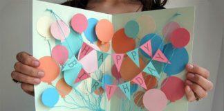 Otváracia narodeninová karta poteší nejedného oslávenca | DIY návod