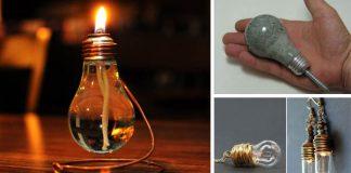 Ako využiť vypálené žiarovky | Kreatívne nápady využitia žiaroviek