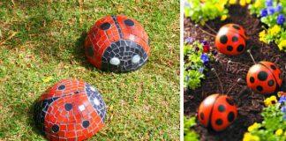 Ako ozdobiť záhradu lienkami | Kreatívne nápady a návody na dekorácie