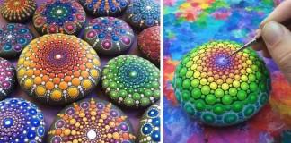 Elspeth McLean mení kamene na pestrofarebné mandaly