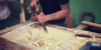 Drevené umývadlá s keramickou mozaikou | Dizajnové DIY nápady