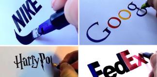 Seb Lester kreslí logá svetoznámych značiek dokonale, aj bez počítača