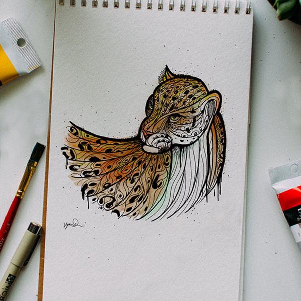 Otec kresli zvierata a uci tak syna abecedu 4
