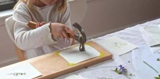 Maľovanie bez farieb kvetmi a listami | DIY nápad a návod nielen pre deti