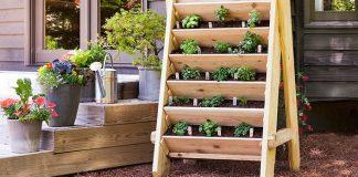 Drevený vertikálny záhon | Kreatívny nápad a návod do záhrady na záhon
