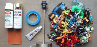 Návod, ako premeniť detské figúrky na originálnu lampu